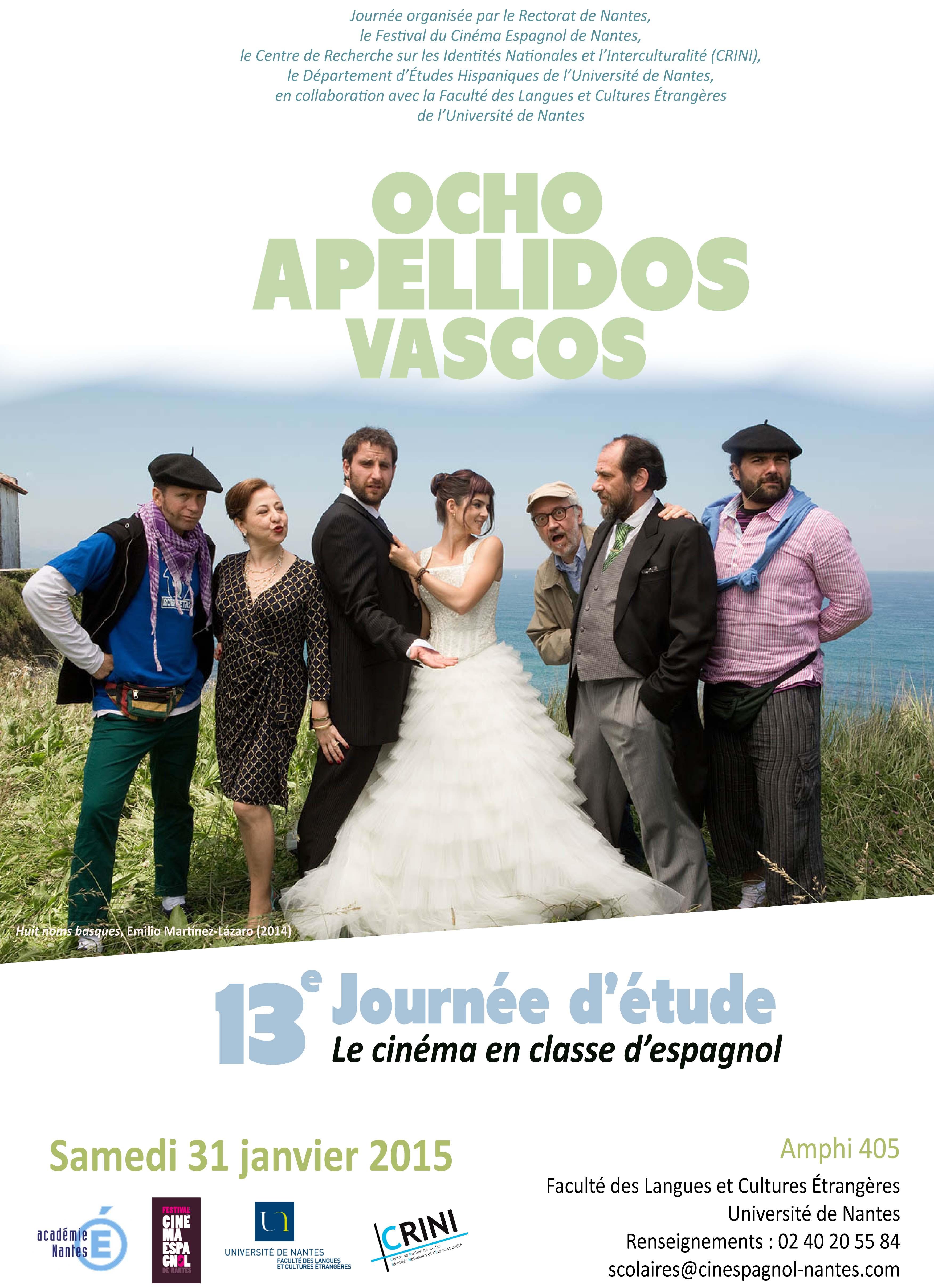 Programme Journée d'étude le cinéma en classe d'espagnol 2015