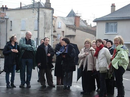 le groupe lors de la sortie d'Oiron